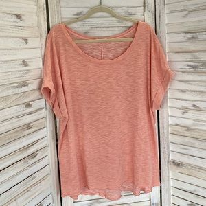 Oversized Tee in Coral by Easel